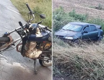 Colisão envolvendo carro e moto deixa feridos entre os municípios de Batalha e Jaramataia