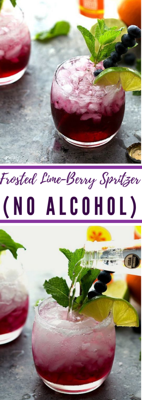 Frosted Lime-Berry Spritzer #drink #cocktail #healthydrink #smoothie #easy