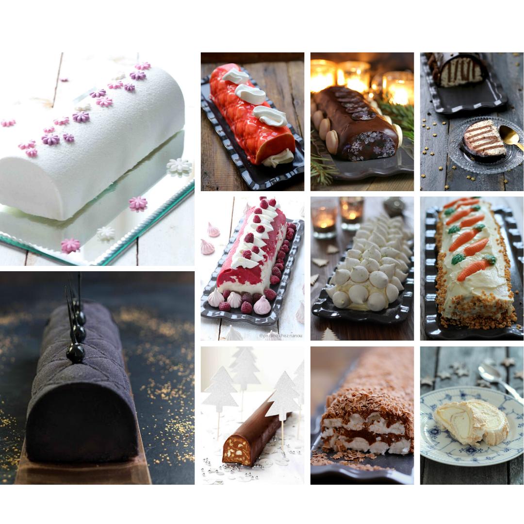 bûche, gâteaux roulés, desserts de noel ,recettes festives