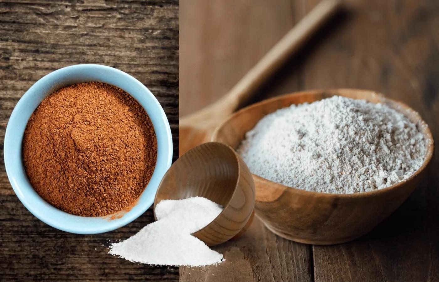 flour and cinnamon for Amish bread