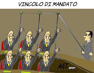 di maio, vincolo di mandato, costituzione, parlamentari, m5s, politica, vignetta, satira