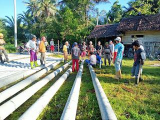 Pjs Kades Bersama Warga Desa Lantang Tallang Gotong Royong Dimasa Pandemi