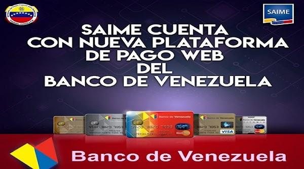 Entérese! SAIME cuenta con nueva plataforma de pago para la emisión o prórroga del pasaporte