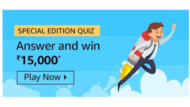 Amazon Special Edition Quiz - Win ₹15000 (All Answers)
