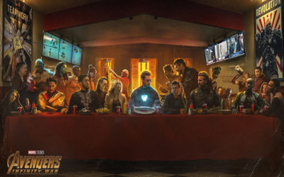 Avengers Infinity War Super Héros 2 - Fond d'Écran en Full HD 1080p