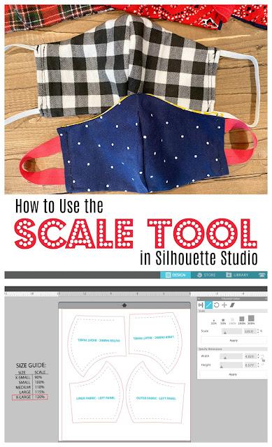 silhouette 101, silhouette school blog, silhouette studio, scale tool, silhouette studio design tools