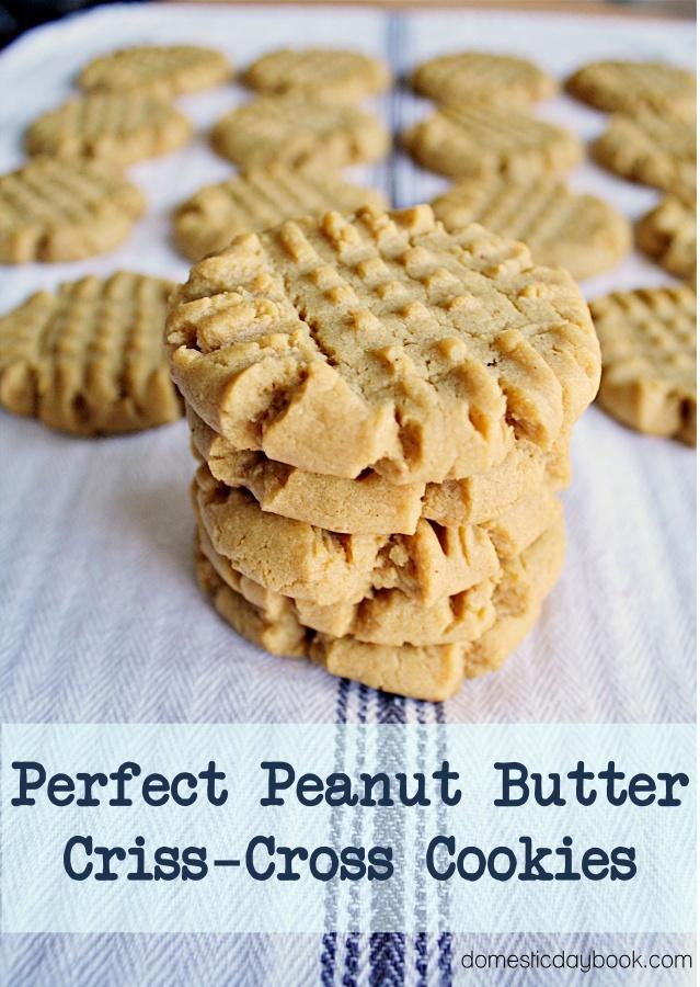 Peanut Butter Criss-Cross Cookies