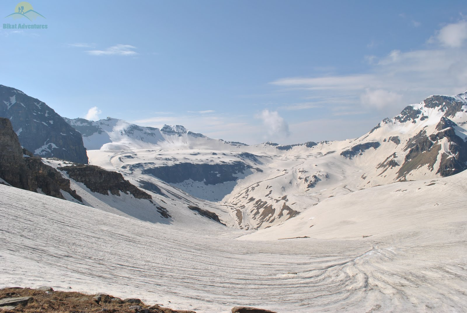 Snowfield seen during Rupin Pass Trek
