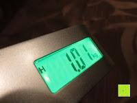 Messung: Tragbare elektronische Waage Gepäckwaage silber