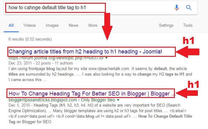 Google Seo H1 Tags