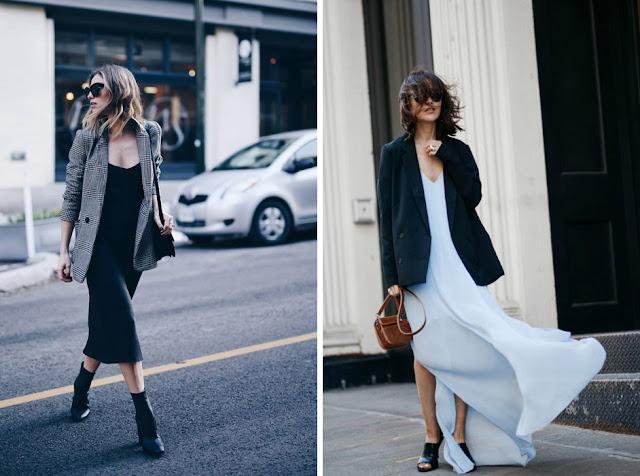 Платье-комбинация миди с удлиненным жакетом