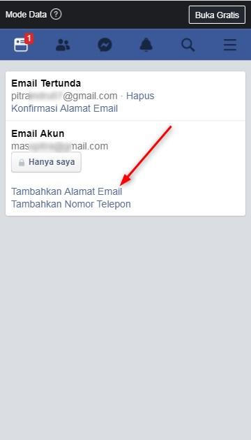 Cara Mengubah Email Facebook di Perangkat Seluler Android