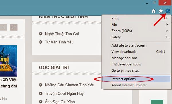 Cách cài đặt Google làm trang chủ trên IE