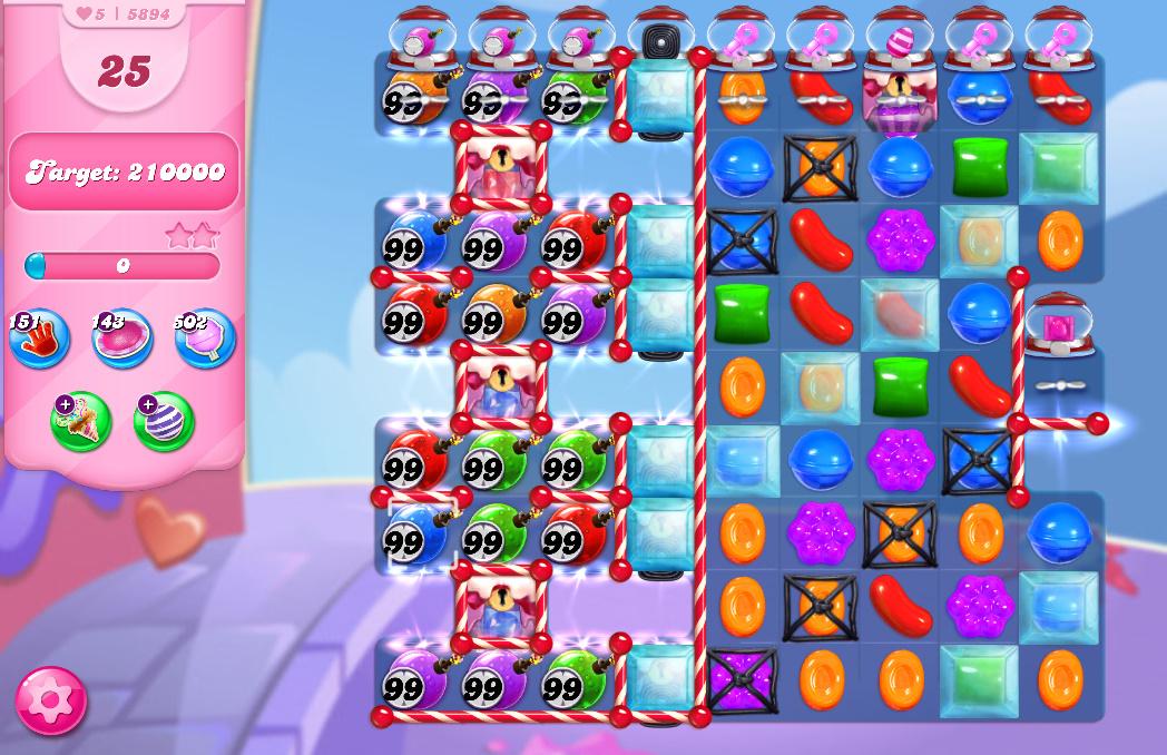 Candy Crush Saga level 5894