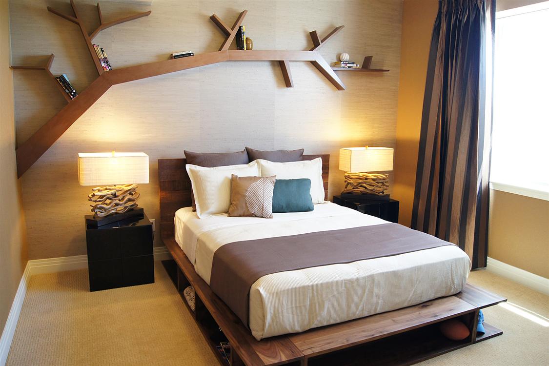 Foundation Dezin & Decor...: Creative Bedroom Idea's ... on Creative Wall Design Ideas  id=17815