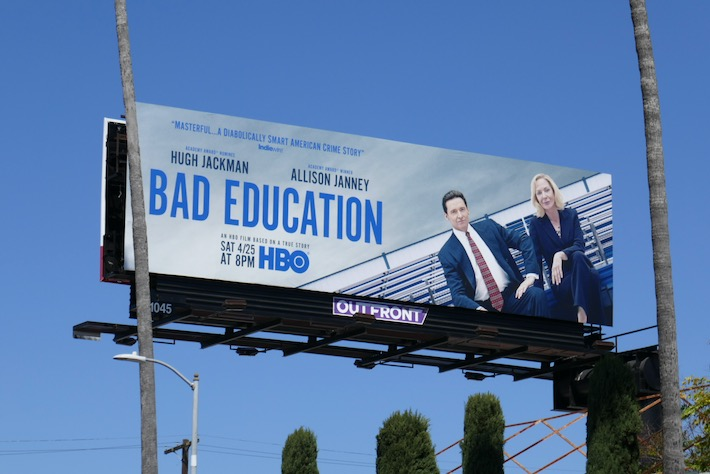 Bad Education movie billboard