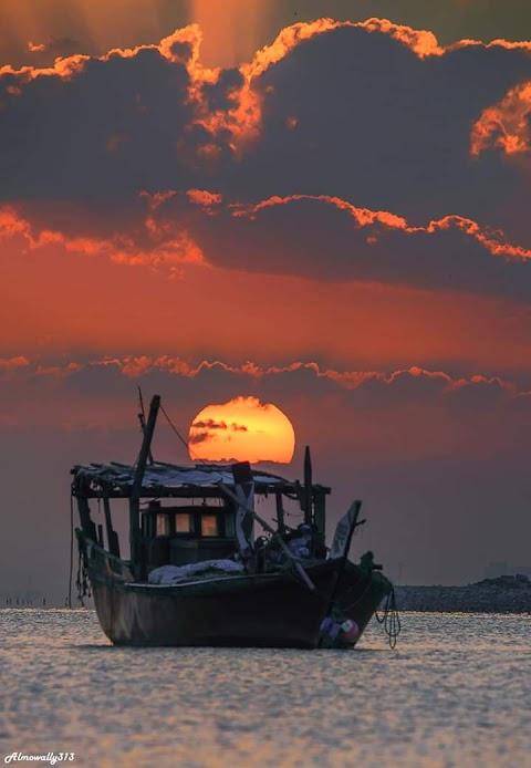 Sunset in Saudi Arabia