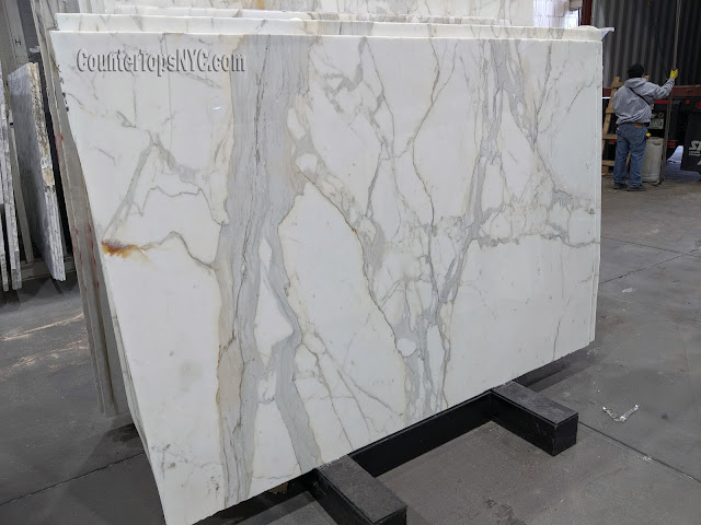 Calacatta Gold White Marble Slab NYC