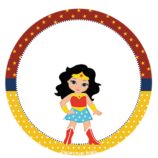 Wonder Woman Chibi Toppers or Free Printable Candy Bar Labels.