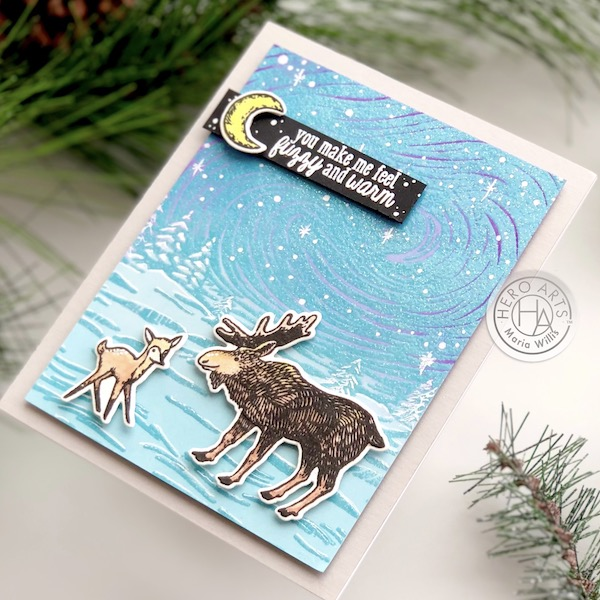 Hero Arts,cards,cardmaking,handmade,color,art,christmas,winter,diy, watercolor