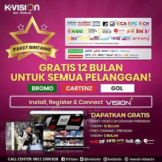 Daftar Siaran Paket Bintang K Vision Media Netral