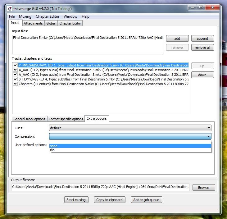 mkvmerge gui ver 4.2.0