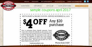 Boston Market coupons april
