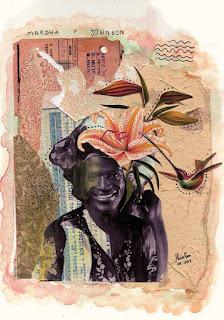 Colagem Marsha P. Johnson por Maria Rosa