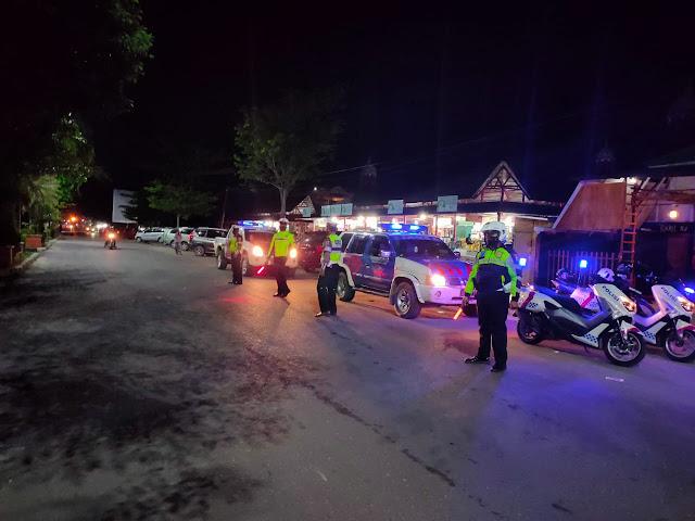 Antisipasi Balapan Liar, Sat Lantas Polres Kotim Terus Tingkatkan Patroli Malam