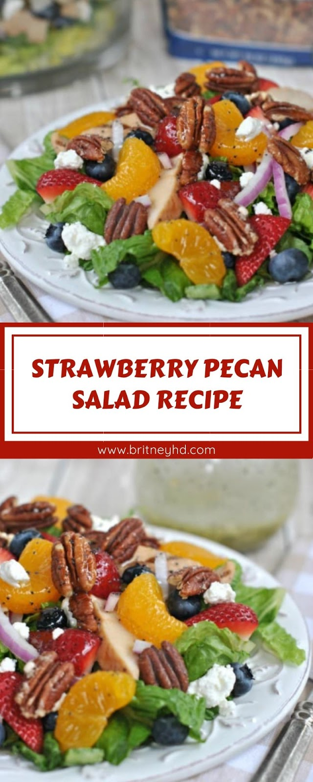 STRAWBERRY PECAN SALAD RECIPE
