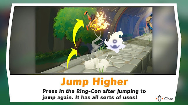 Ring Fit Adventure double jump higher boost