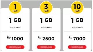 Indosat - 2 Ribu 1GB