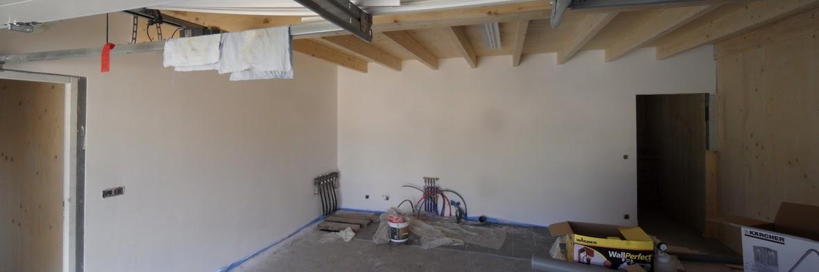 notre maison passive au pays des 3 fronti res lorraine les murs du garage sont peints. Black Bedroom Furniture Sets. Home Design Ideas