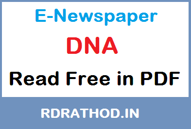 DNA E-Newspaper of India | Read e paper Free News in English on Your Mobile @ ePapers-daily