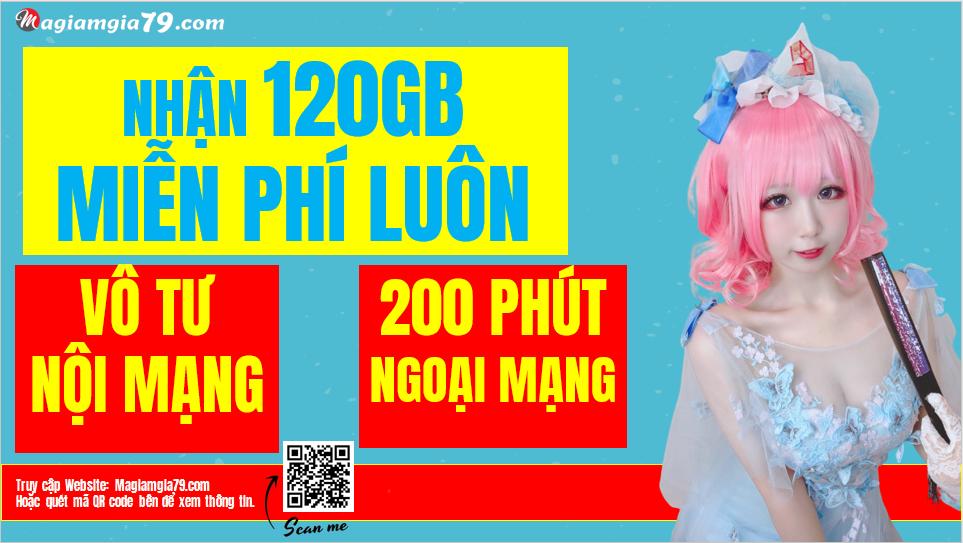 Đăng ký gói 120GB/tháng VD149S Vinaphone