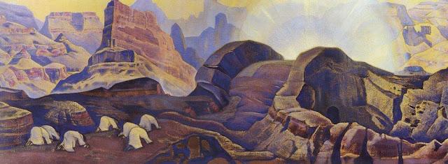 Николай Рерих - Чудо. Явление Мессии. 1923