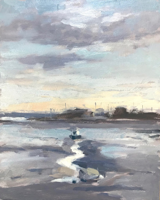 #294 'Low Tide, Langstone Harbour' 8×10″ & Video