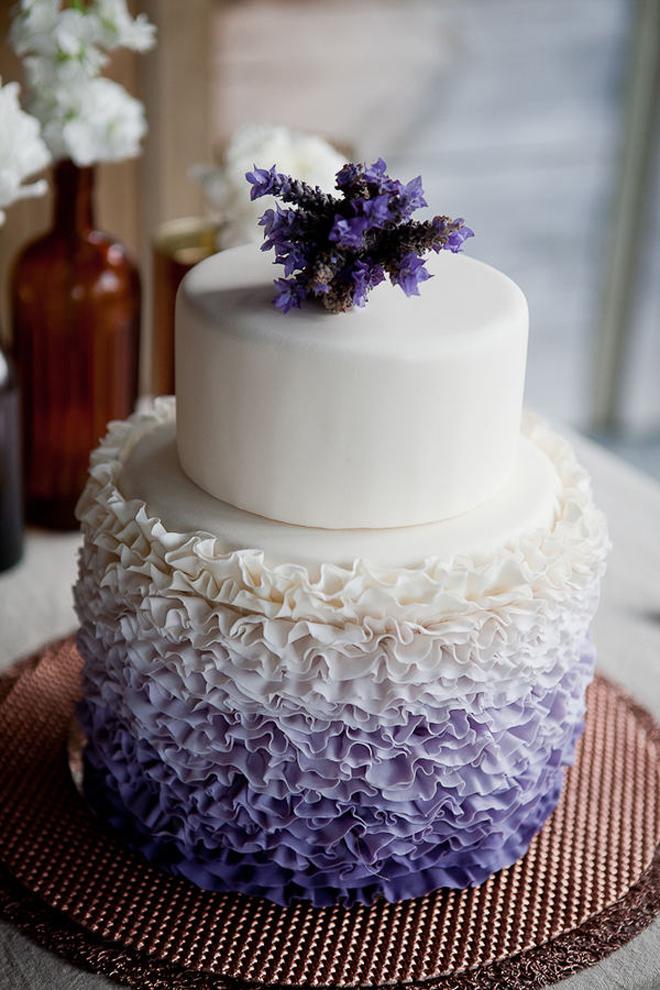 Grey Ombre Wedding Cake