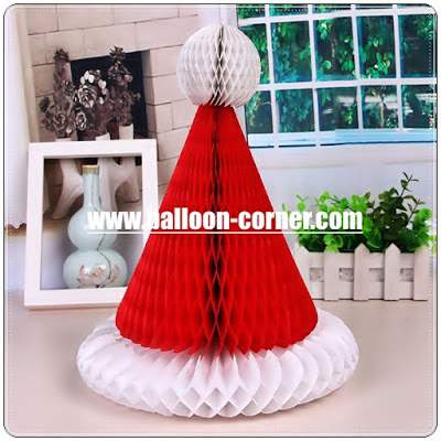 Honeycomb Santa Claus Hat / Honeycomb Topi Santa Claus