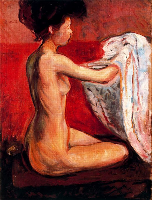 Эдвард Мунк - Парижская обнаженная. 1896