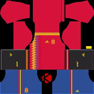 0baec24db2b Information Spain 2018 World Cup Kit - Dream League Soccer Kits ...
