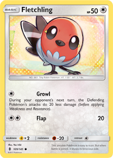 Fletchling Guardians Rising Pokemon Card