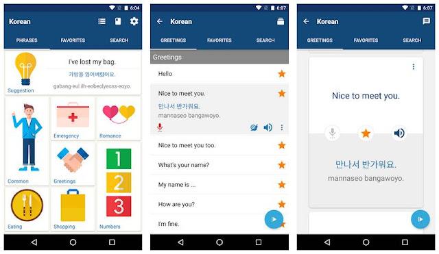 Aplikasi Language (Learn Korean Phrases)