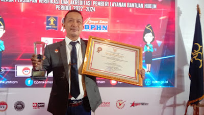 Masuk Nominasi Terbaik se Indonesia, YLBH Bhakti Keadilan Terima Penghargaan dari Menteri Hukum dan HAM RI