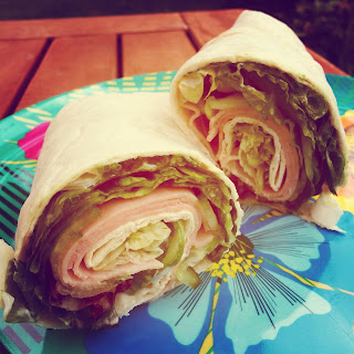 Ham and Salad Wrap