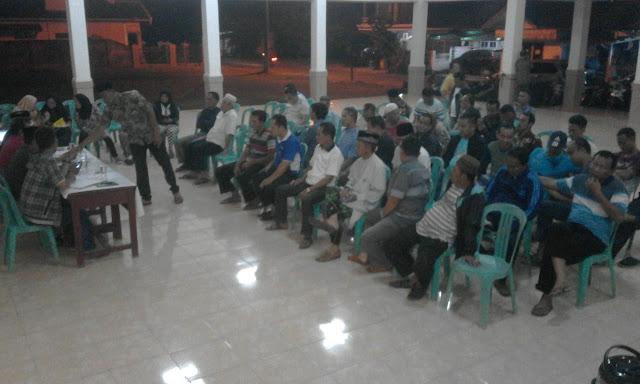 Masyarakat Kelurahan Tanjung Rancing Gelar Musyawarah Mufakat