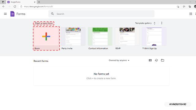 Mulai Membuat Formulir Google