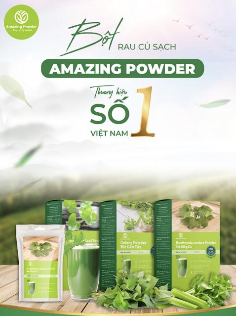 Bột rau má Amazing Powder là gì