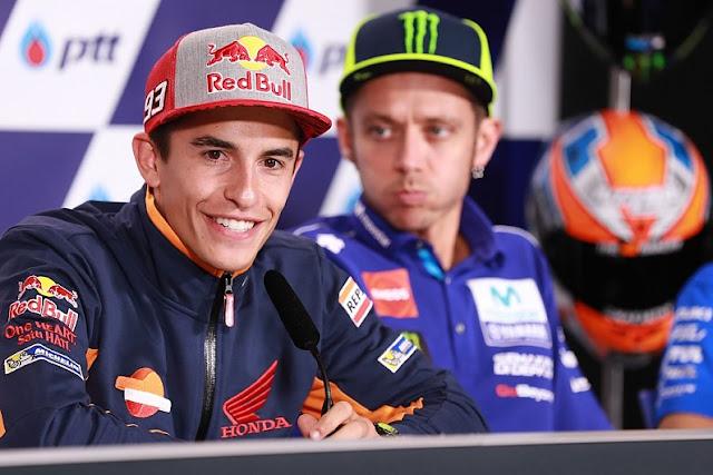 Meski Berseteru Valntino Rossi Pernah Memuji Marquez