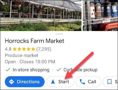 ابدأ التنقل في خرائط Google